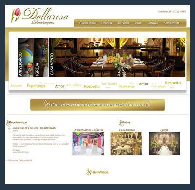 site da dallarosa decorações